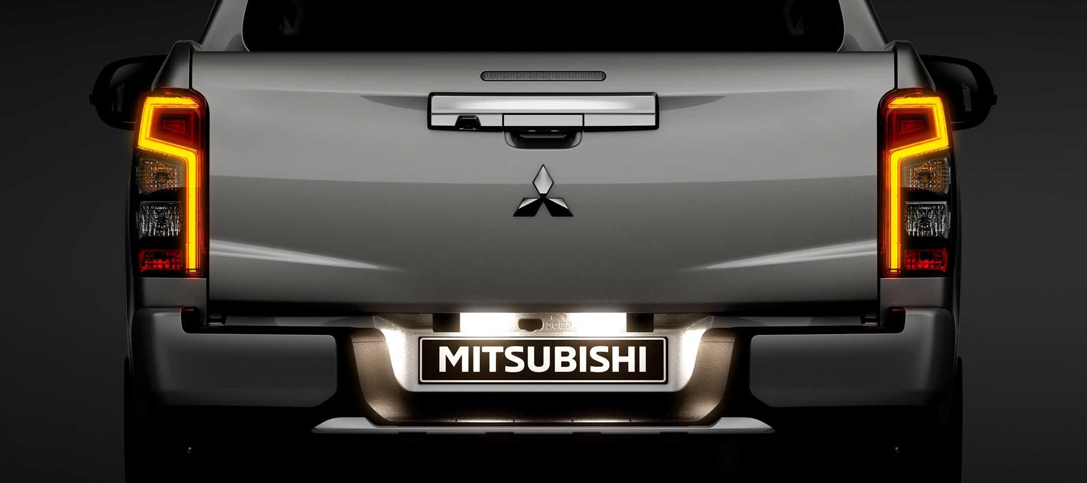 Bagenden på Mitsubishi L200